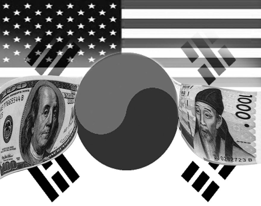 Illustration: Korean miracle by John Camejo for The Washington Times
