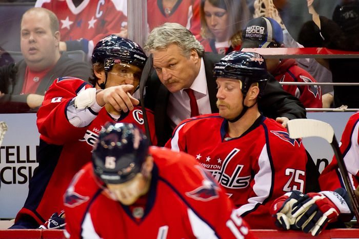 Dale Hunter has led the Washington Capitals to a 5-5 record since replacing Bruce Boudreau on Nov. 28. (Andrew Harnik/The Washington Times)