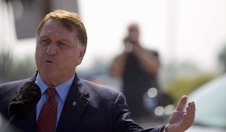 """Teamsters General President James P. Hoffa maintained Wednesday that, despite the objections raised by Republicans and the trucking industry to the Obama administration's proposal to reduce the number of hours per day driven by truckers, it's possible to craft a rule that """"creates jobs, protects American workers and saves money and lives."""" (Associated Press)"""