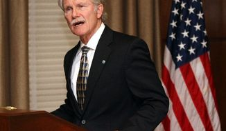 """""""I simply cannot participate once again in something I believe to be morally wrong,"""" says Oregon Gov. John Kitzhaber in announcing that he was halting the execution of a double murderer -and that no more executions will happen while he is in office. (Associated Press)"""