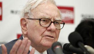 ** FILE ** U.S. billionaire investor Warren Buffett. (AP Photo/Shuji Kajiyama, File)