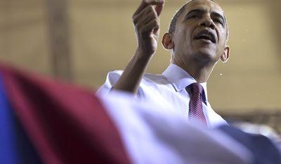 President Obama speaks at Scranton High School in Scranton, Pa., on Wednesday, Nov. 30, 2011. (AP Photo/Carolyn Kaster)
