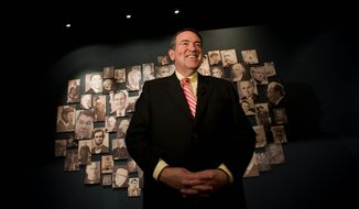 "Mike Huckabee promises ""no 'gotcha' stuff"" when he hosts a live forum Saturday night for six of the Republican presidential candidates. (Associated Press)"