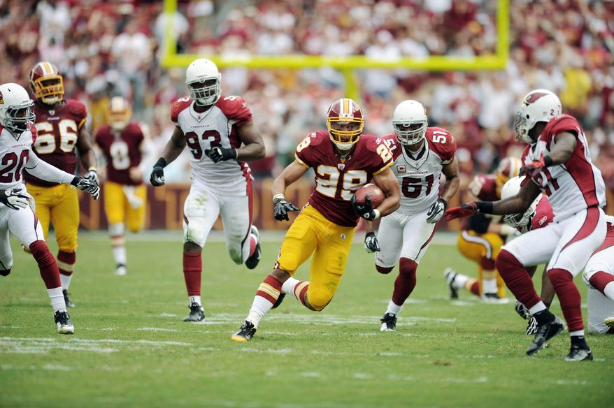 Washington Redskins rookie running back Roy Helu was given his first start in his 11th game, during which he ran for 108 yards and a touchdown. (Andrew Harnik/The Washington Times)