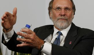 ** FILE ** In this Oct. 20, 2009, file photo, then New Jersey Gov. Jon S. Corzine answers a question during an interview with the Associated Press, in Trenton, N.J. (AP Photo/Mel Evans, File)