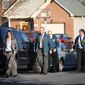 FBI and IRS Criminal Investigative Division agents leave the scene after they served a search warrant on the home of Washington D.C. City Council member Harry Thomas, Jr., on 17th Street NE in Washington, D.C., on Friday, December 2, 2011. (Pratik Shah./The Washington Times)