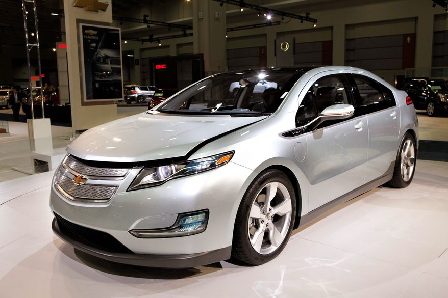 The Chevy Volt is a gas-electric hybrid. (Associated Press)