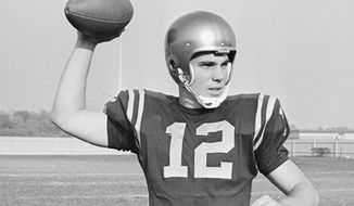 Star quarterback Roger Staubach sparked Navy to a 21-15 victory over Army in 1963. (AP)