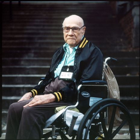 """""""It was the first time I'd ever seen death like that. I never realized you could die so easily. It's something that can haunt you. I never forgot."""" - Edward Davis, 90-year-old Army veteran stationed at Pearl Harbor during the attack. (T.J. Kirkpatrick/The Washington Times)"""