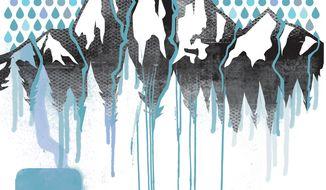 Illustration: Regulating rain by Linas Garsys for The Washington Times