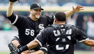 Left-hander Mark Buehrle was the Nationals' top target among free agent pitchers, but the former White Sox ace agreed to a four-year deal with the Marlins. (Associated Press)