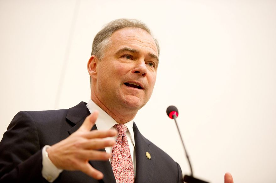 ** FILE ** Tim Kaine, U.S. Senate candidate and former Virginia governor. (Andrew Harnik/The Washington Times)