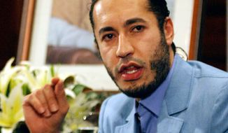 ** FILE ** Al-Saadi Gadhafi, a son of former Libyan dictator Moammar Gadhafi's, is pictured in 2005. (AP Photo/Dan Peled, File)