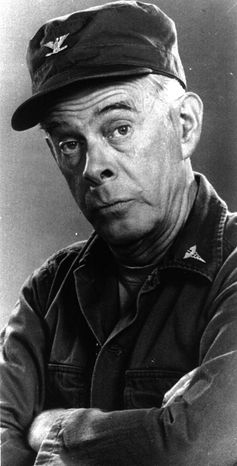 """Harry Morgan played the fatherly Col. Sherman T. Potter on the long-running TV series """"M*A*S*H."""" (AP Photo)"""