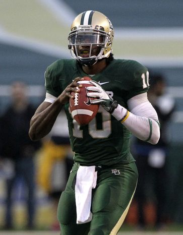 Baylor quarterback Robert Griffin III threw for 4,293 yards, 37 touchdowns and six interceptions this season. He also rushed for 699 yards and 10 scores. (Associated Press)