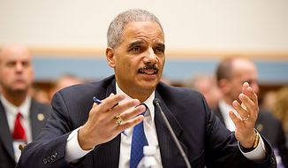 Attorney General Eric H. Holder Jr. testifies before the House Judiciary Committee about Operation Fast and Furious on Thursday, Dec. 8, 2011, on Capitol Hill in Washington. (Andrew Harnik/The Washington Times)