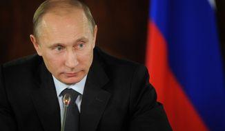 Russian Prime Minister Vladimir Putin (AP Photo/RIA Novosti, Alexei Druzhinin, Pool)