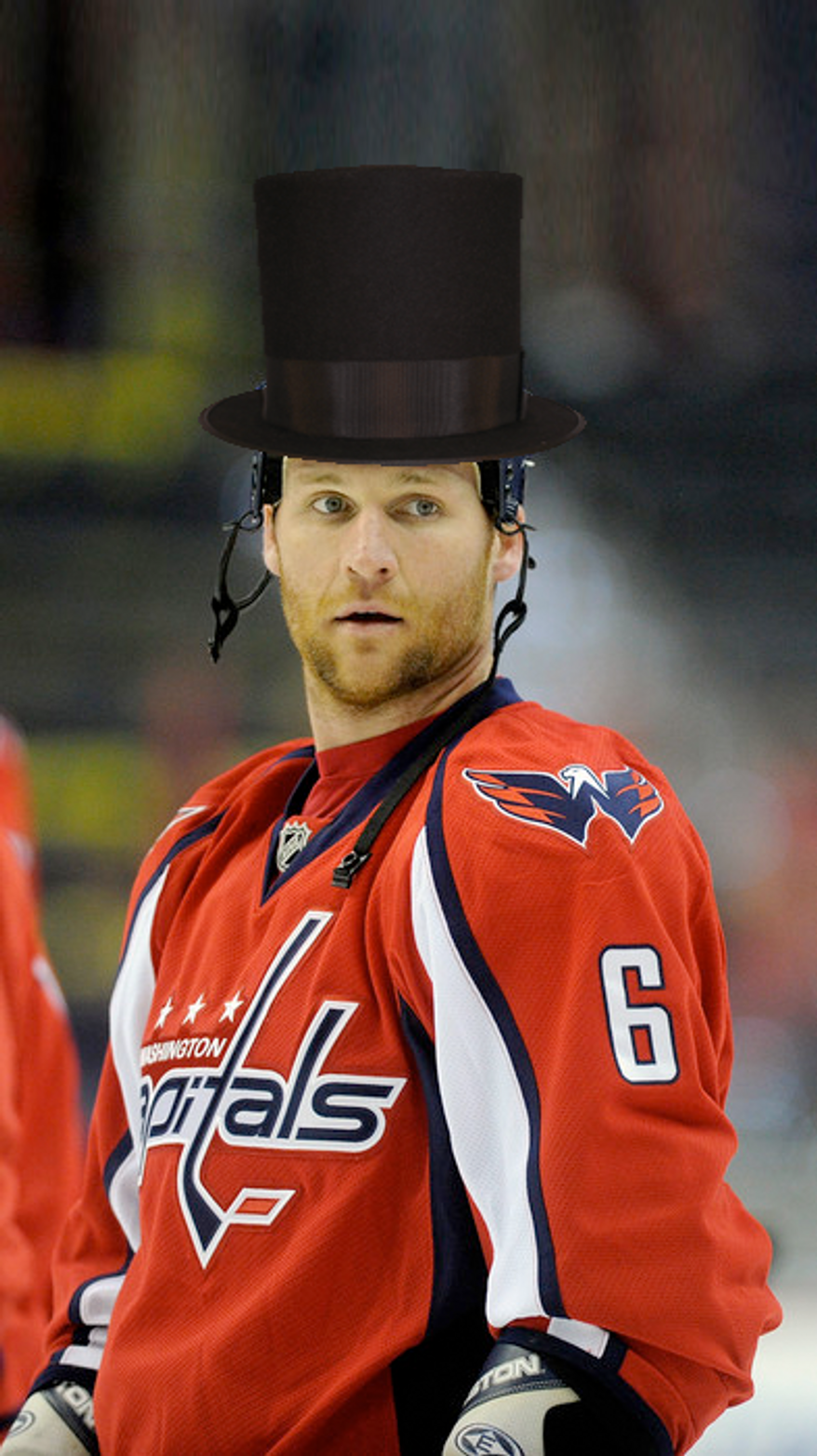 Dennis Wideman as Abraham Lincoln photoshop No. 5 by @golbeck.