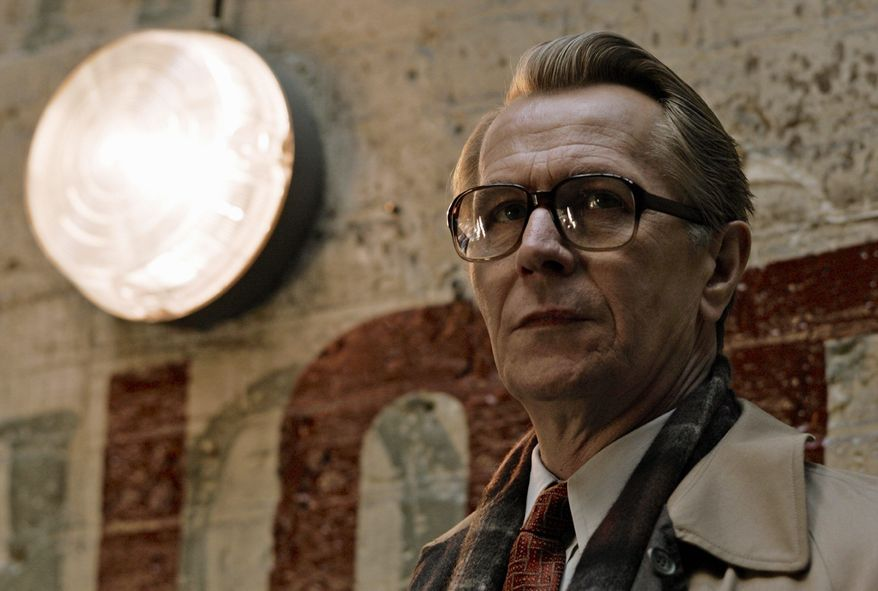 "Gary Oldman, shown in a scene from ""Tinker, Tailor, Soldier, Spy,"" was called the ""Swiss Army knife of acting"" because of his versatility by director Tomas Alfredson. The film opens in the U.S. on Friday. (Focus Features via Associated Press)"