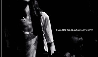 """In this CD cover image released by Because Music/Elektra Records, the latest release by Charlotte Gainsbourg, """"Stage Whisper,"""" is shown. (AP Photo/Because Music/Elektra Records)"""