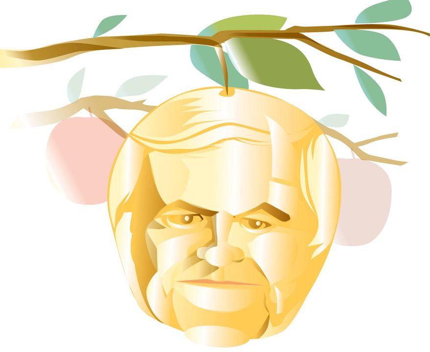 Illustration: Newt Gingrich by Linas Garsys for The Washington Times