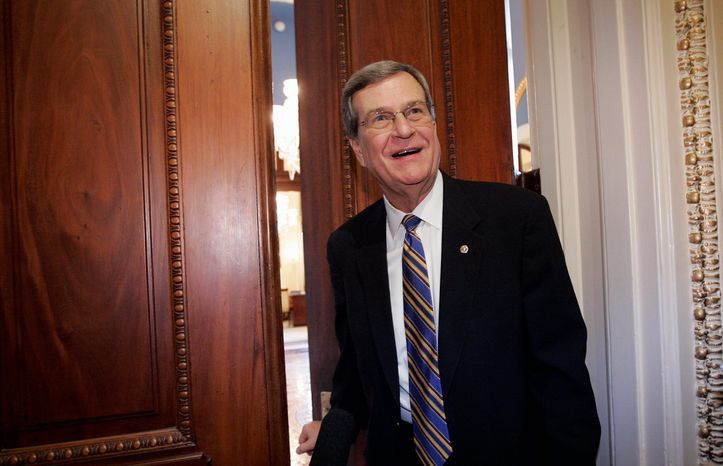 Former Senate Majority Leader Trent Lott, one of several ex-members of Congress to become a successful lobbyist, is shown in this 2011 file photo. (Associated Press) ** FILE **