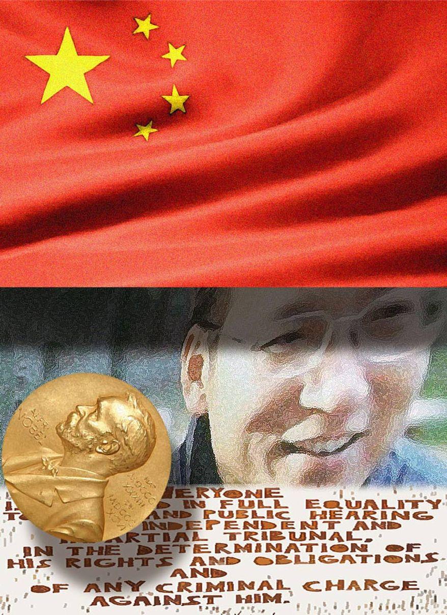 Illustration: Liu Xiaobo