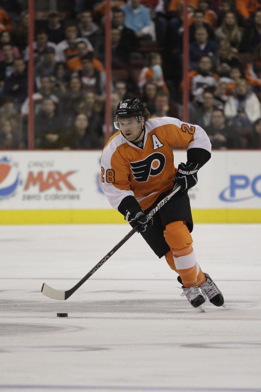 **FILE** Philadelphia Flyers center Claude Giroux (Associated Press)