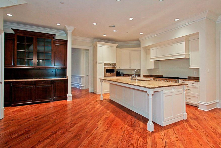 The kitchen in the Archbold model available at 1801 Foxhall was designed by Lobkovich Inc., a Tysons Corner-based kitchen-design firm. It features professional-grade appliances and a butler's pantry.