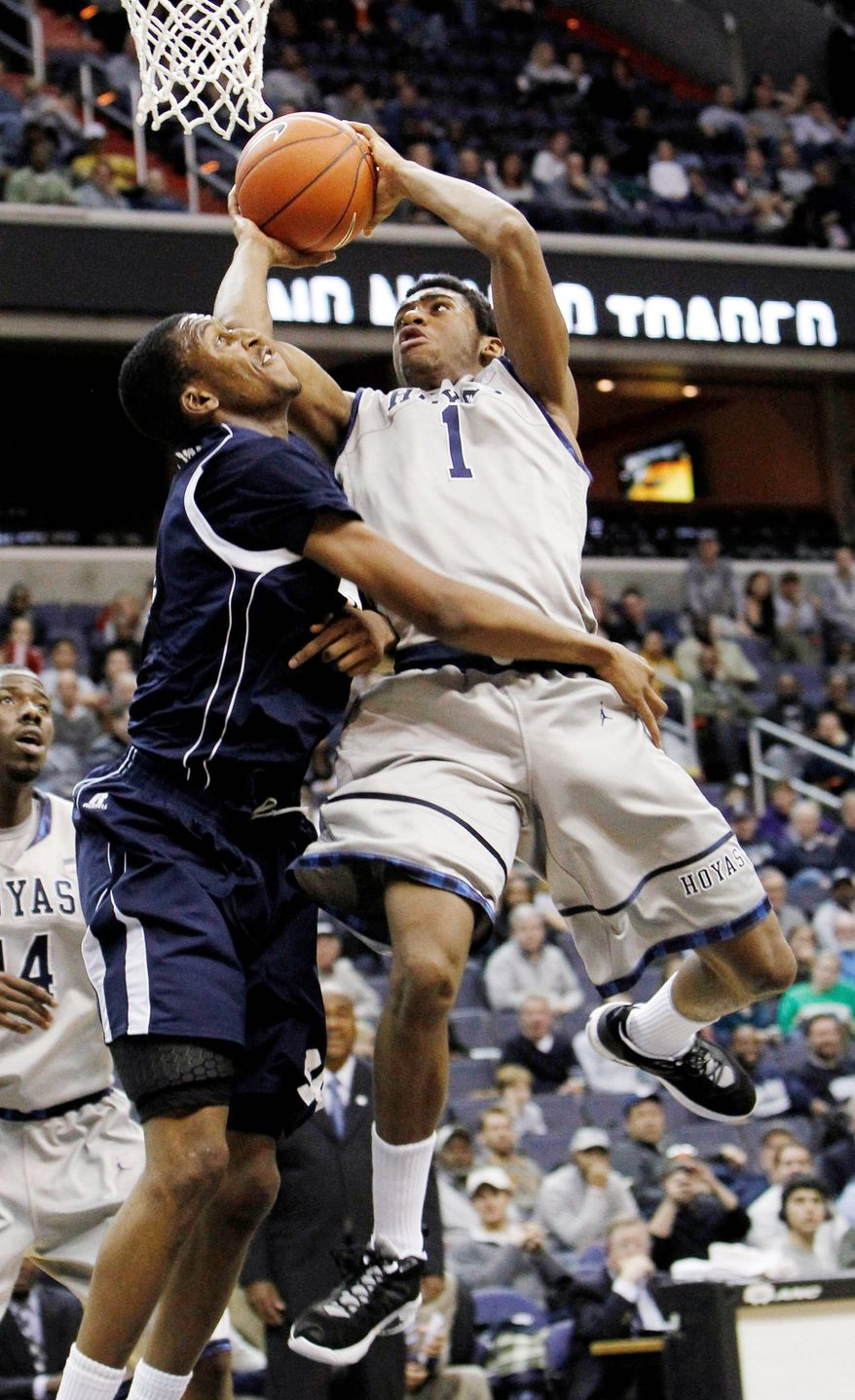 Forward Hollis Thompson is averaging 14.7 points on 54 percent shooting from the floor for No. 16 Georgetown. (Associated Press)