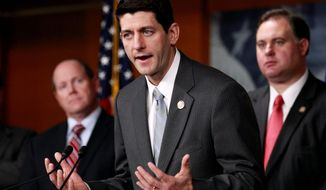 House Budget Committee Chairman Rep. Paul Ryan, Wisconsin Republican, has teamed with Sen. Ron Wyden, Oregon Democrat, to offer offering seniors a choice between private plans and a traditional Medicare plan. (Associated Press)