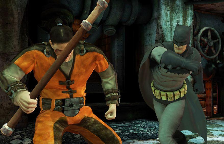 Frank Miller's Dark Knight returns in the iPad game Batman: Arkham City Lockdown.