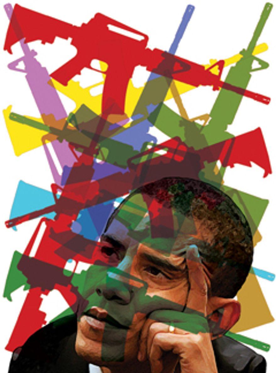 Illustration: Rangel by Alexander Hunter for The Washington Times