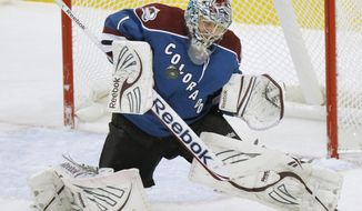 Semyon Varlamov went 26-24-3 in his first season with the Colorado Avalanche. (AP Photo/Barry Gutierrez)
