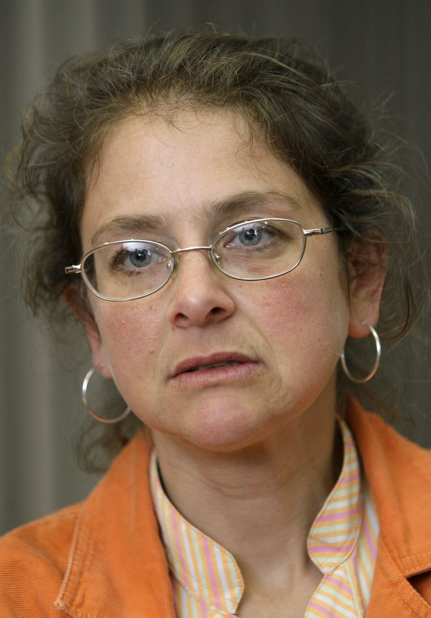 ** FILE ** U.S. political activist Lori Berenson speaks to the Associated Press at her home in Lima, Peru, in this Nov. 9, 2010, file photo. (AP Photo/Karel Navarro, File)