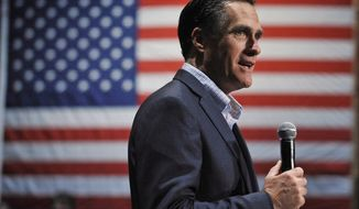 Former Massachusetts Gov. Mitt Romney speaks during a town-hall meeting on Saturday, Dec. 17, 2011, in Charleston, S.C., while campaigning for the Republican presidential nomination. (AP Photo/Rainier Ehrhardt)
