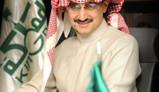 Saudi billionaire Prince Alwaleed bin Talal and his investment company, Kingdom Holding Co., said Monday they are investing a combined $300 million into Twitter. (Kingdom Holding Co.)