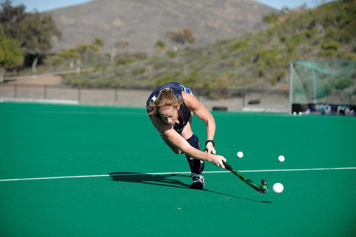 U.S. field hockey player Claire Laubach at the Olympic Training Center in Chula Vista, Calif. Wednesday, Dec. 7, 2011. (Denis Poroy/Special to The Washington Times)
