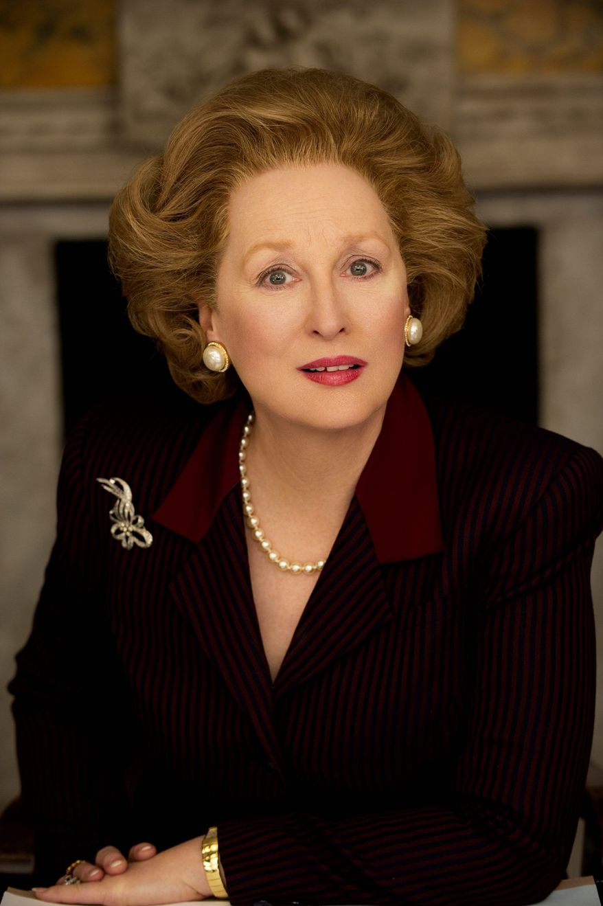 "Meryl Streep was nominated this month for a Golden Globe for best actress in a drama for her role in ""The Iron Lady."" (Weinstein Co. via Associated Press)"