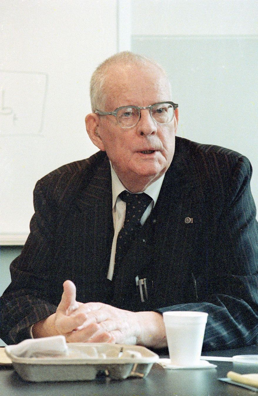 TRANSFORMATIVE: Management guru W. Edwards Deming, seen here in February 1987, found an eager student during the last years of his life in the 1990s in Newt Gingrich. (Associated Press)