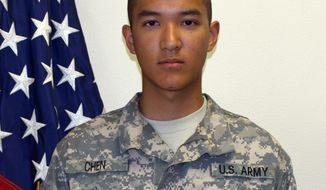 ** FILE ** This undated file photo provided by the U.S. Army shows Pvt. Danny Chen, 19, who was killed Monday, Oct. 3, 2011, in Kandahar, Afghanistan. (AP Photo/U.S. Army, File) (AP Photo/U.S. Army, File)