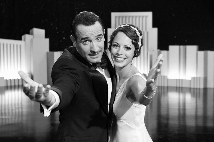 "Jean Dujardin (left) and Berenice Bejo star in ""The Artist."" (Weinstein Co. via Associated Press)"