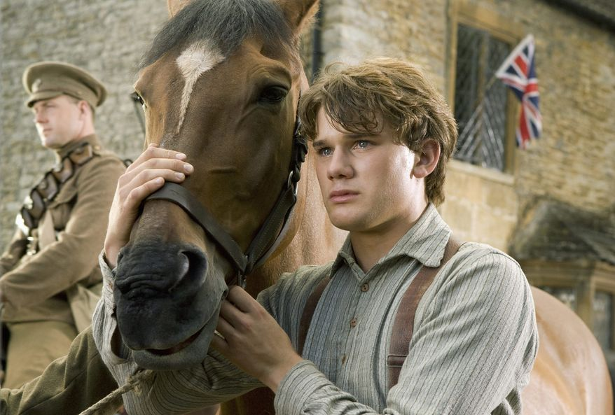 "Jeremy Irvine stars as Albert, a young man who follows his beloved horse off to World War I, in ""War Horse,"" a new drama that shows both the good and bad sides of Hollywood legend Steven Spielberg. (Disney via Associated Press)"