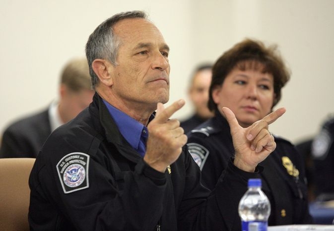"""Commissioner Alan Bersin, head of Customs and Border Protection, said he was """"proud of the significant and meaningful achievements we have made on our borders and at our nation's ports of entry over nearly two years."""" (Associated Press0"""