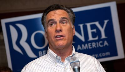 Former Massachusetts Gov. Mitt Romney speaks during a campaign stop at the Stage Restaurant in Keene, N.H., on Wednesday, Dec. 21, 2011. (AP Photo/Matthew Cavanaugh)