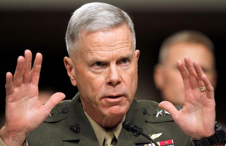 **FILE** Gen. James F. Amos is commandant of the U.S. Marine Corps. (Associated Press)