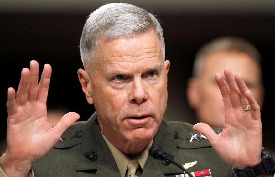 **FILE** Gen. James F. Amos is commandant of the U.S. Marine Corps. (Associated Press)