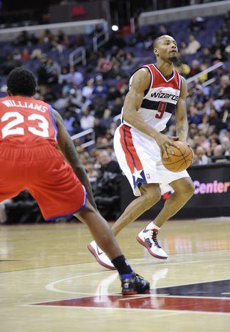Washington Wizards forward Rashard Lewis has seven points and seven rebounds this preseason. (AP Photo/Nick Wass)