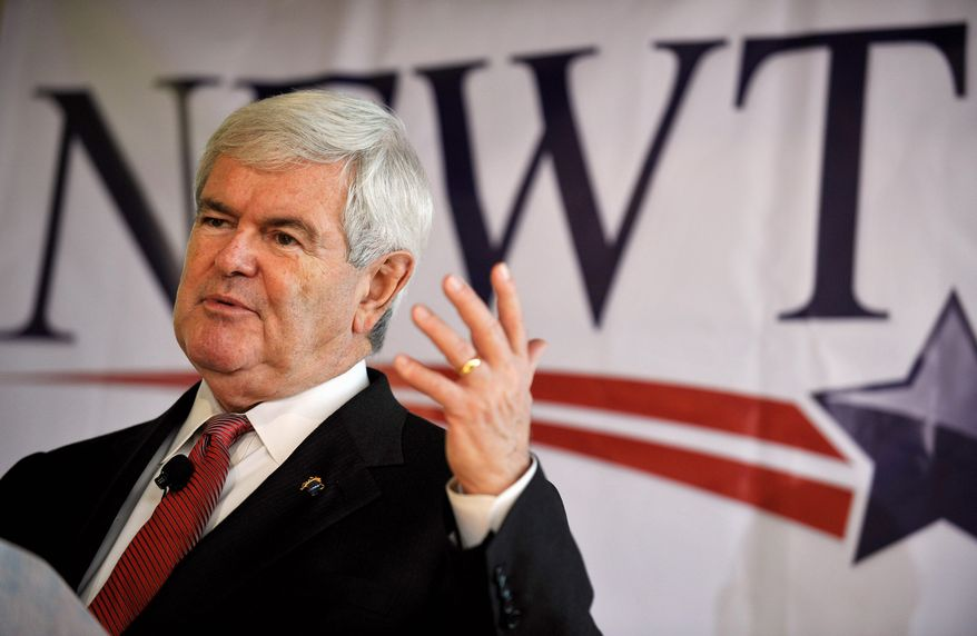 """While speaker of the U.S. House, Newt Gingrich's House colleagues overwhelmingly voted to reprimand him for bringing discredit on the chamber. """"The way I was dealt with related more to the politics of the Democratic Party than the ethics,"""" he said of the 1997 vote. The findings were brought back into the limelight last month when he surged to the top among Republican presidential hopefuls. (Associated Press)"""