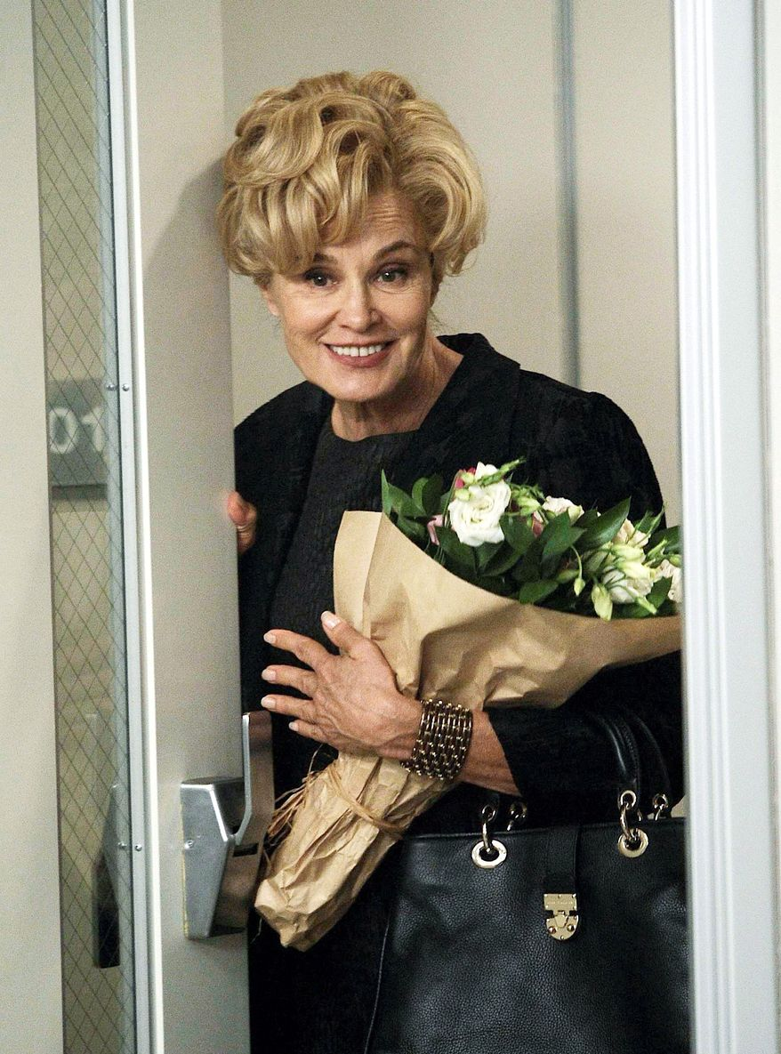 """Jessica Lange won a Golden Globe nomination for her role on """"American Horror Story."""" A TV critic says Ms. Lange's performance channels the Southern Gothic sensibility of Bette Davis' terrifying turn in 1965's """"Hush, Hush, Sweet Charlotte."""" (FX via Associated Press)"""